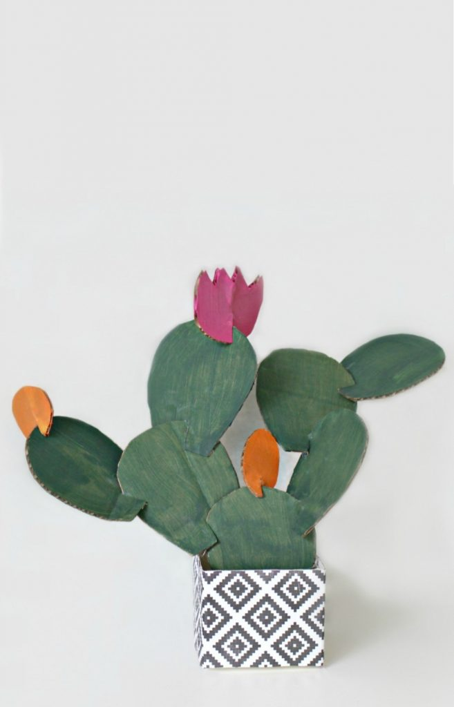 DIY Cardboard Prickly Pear Cactus Craft
