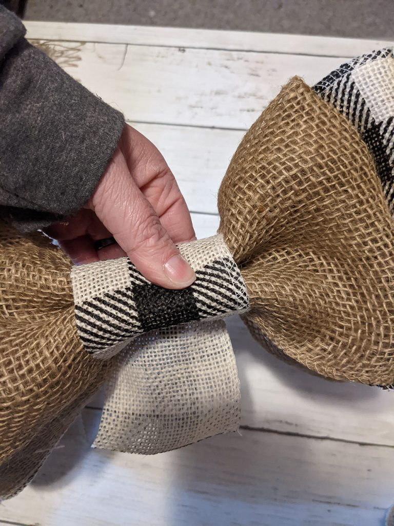 ribbons being formed into a bow