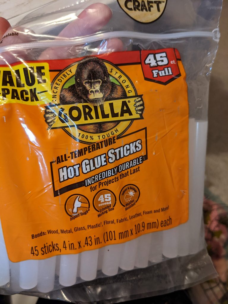 gorilla brand glue sticks in their packaging